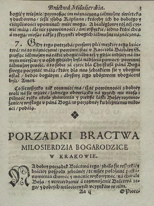 Powinności 3. Bractwo Milosierdzia w Krakowie u Ś.Barbary 1598 [Małopolska Biblioteka Cyfrowa]